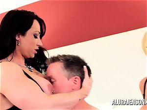 milf detective Alura Jenson 3some orgy