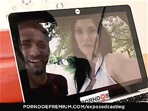 exposed casting Jasmine Jae drilled in scorching casting