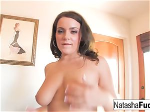 Natasha nails Her butt With a Purple plaything