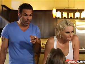 Family orgy lessons with stepmom and stepfather - Phoenix Marie and Alexis Adams