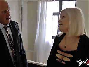 AgedLovE Lacey Starr humped rock hard with Sales Agent