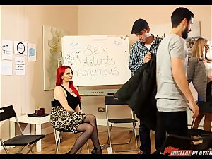intercourse junkies anonymous gets a bit steaming with Jasmine James and Danny D