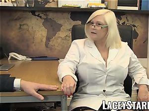 LACEYSTARR - GILF licks Pascal milky spunk after hump
