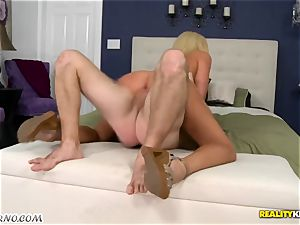 humble boy romps his warm trampy neighbor Summer Brielle