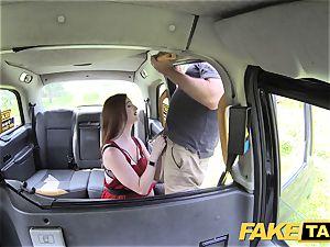 fake cab Olive skin redhead in underwear