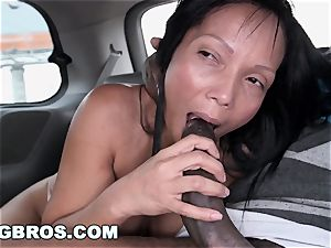 The BangBus in Colombia pummeling A yam-sized caboose Latina cougar