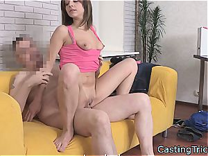 slender dark-haired Russian wants to pay the bills getting boned