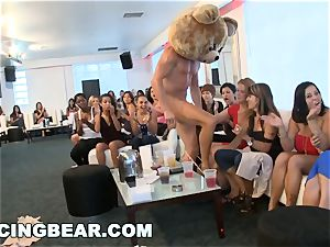 CFNM hotel party with massive lollipop masculine Strippers