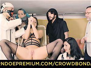 CROWD restrain bondage subjugated Amirah Adara first-ever time bondage & discipline
