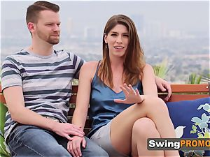 hairless spouse takes his wifey to soiree at the swingers building
