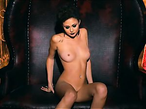 slender small Ariana Marie stunning rubber solo masturbation