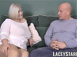 LACEYSTARR - huge-titted GILF negotiates a great poon deal