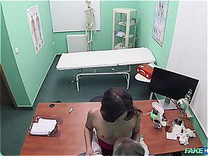 Hidden cam hook-up in the doctors office