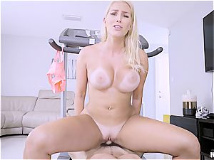 strenuous exercise for Vanessa Cage's large caboose