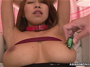 japanese babe fucktoy vibrated and puss vibed