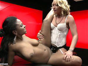 harsh Kathia Nobili thrusts her string on knob deep down her partner hatch