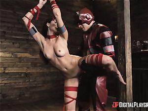 horny superhero hookup with Ariana Marie and Xander Corvus