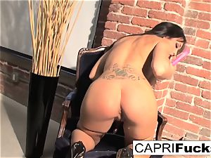 Capri Plays With Her amazing tits And cock-squeezing humid puss