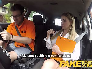 fake Driving college Georgie Lyall Off Duty fuck-fest