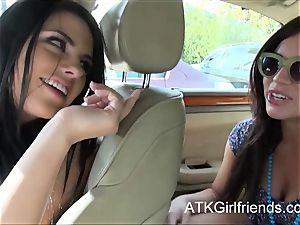 Belle Noire and Adriana Chechik get pov facials