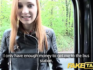 fake cab slim red-haired likes tough hook-up