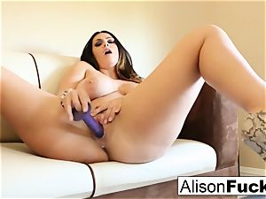 ginormous titted sweetie Alison Tyler plays with her cooter