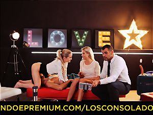 LOS CONSOLADORES - perfect blondies sixty nine in gang intercourse