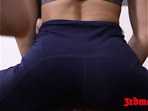 saucy yoga sweeties rammed hard in jizz tasting sex