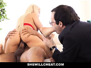 SheWillCheat - Latina wife Creampied By big black cock