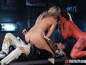 Monster cock longing space lovelies Athena Palomino and Carly Rae
