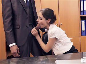 booties BUERO - German stunner bangs manager in office affair