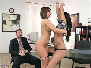 slut Debbie white has a super-steamy steaming 3some