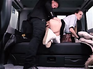 torn up IN TRAFFIC college gal gets humped by driver