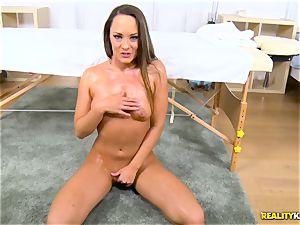 pounding the pussyhole of insatiable brunette Blue Angel