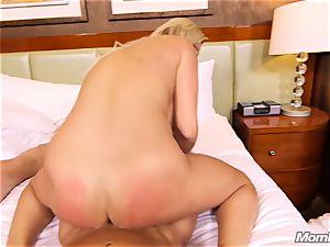 steamy Swedish platinum-blonde nails 2 thick knobs