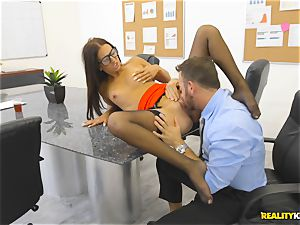 Office poke with the assistant Aubrey Rose who happens to be the bosses daughter-in-law