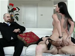 Exotic Swinger wifey boinks Another guy