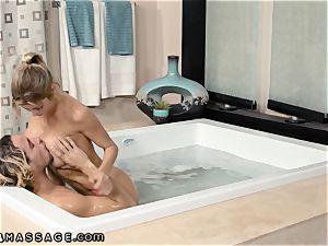 son Caught StepMommy Alexis Fawx Working Nuru massage