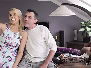 DADDY4K. father and youthful dame enjoy buttfuck fucky-fucky near his sleeping son-in-law