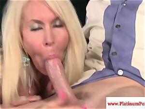Erica Lauren gets throatful of rock-hard sausage