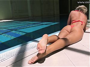 prominent Mary Kalisy is swimming naked for XXXWATER