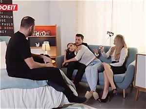LETSDOEIT - horny platinum-blonde Gets Gelp To spunk From couple