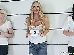 harsh oral interrogation with Nicole Aniston