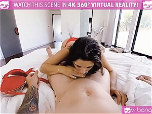 VR porno - big-chested Abella Danger audition couch get ultra-kinky