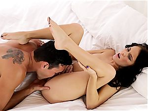 Lusty Megan Rain munched out and smashed well