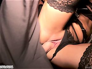 Romi Rain - outstanding steaming first-timer porn in the street