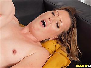 Breanna Bree mischievous and riding on top