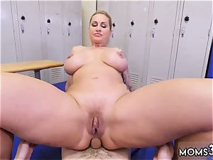 mummy jerks ally comrade first-ever time dominant milf Gets A internal cumshot After rectal bang-out