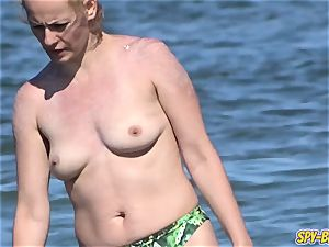 enormous bosoms fledgling Beach milfs - hidden cam Beach video