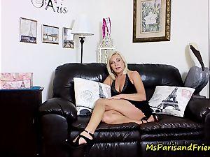 cum on Mommy's bra-stuffers with Ms Paris Rose